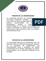 Misión y Visión de l a Universidad Nacional de Chimborazo