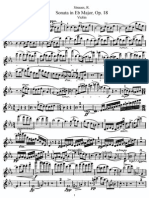 Strauss Violin Sonata Eb (Vln)