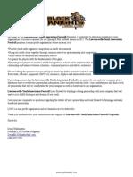 LYA Football Sponsor Letter 2015