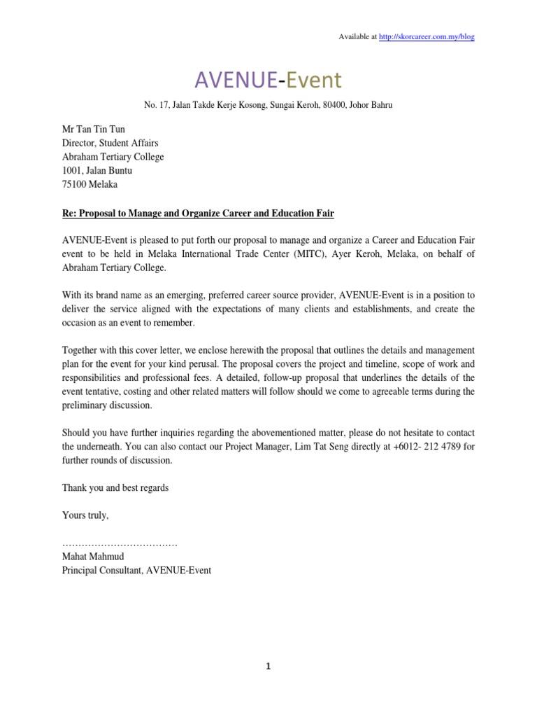 sample of proposal plan event press release logistics
