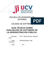 Guía Técnica sobre Evaluación de Software en la Administración Pública