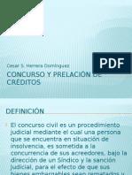Concurso y Prelación de Créditos