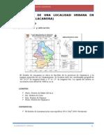 Diagnostico de Una Localidad Urbana en Cajamarca