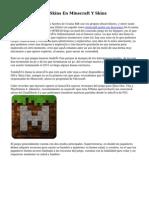 Guía Como Poner Skins En Minecraft Y Skins