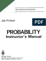 Probability by Jim Pitman Solutions Manual