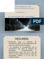 Sistema Iluminacion Led Alimentado Por Energia Solar