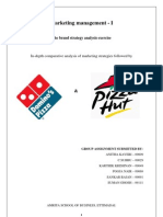 Pizza Hut and Dominos marketing strategy