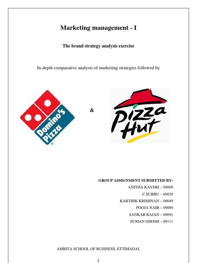 Pizza Hut And Dominos Marketing Strategy Dominos Pizza Fast