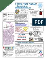 newsletter january 26-30