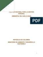 Politica de Gestion Integral Del Suelo