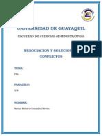 LPN negociacion de conflictos