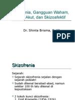 Skizofrenia, Gangguan Waham, Gangguan Psikotik Sementara, Skizoafektif