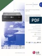 LG Optical Media BH12LS38 Spec Sheet