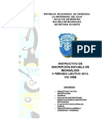 Instructivo Bioanalisis 2-2013