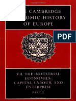 The Cambridge Economic History of Europe Vol 7 Part 2 the Industrial Economies - Capital, Labour and Enterprise