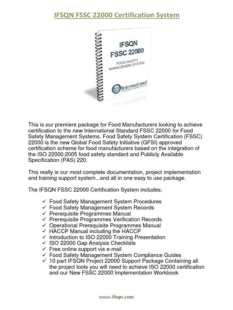 IFSQN FSSC 22000 Certification System Product Brochure   Hazard