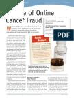beware of online cancer fraud