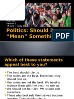 POS 100 1S 2014 - Section 1 - Defining Politics
