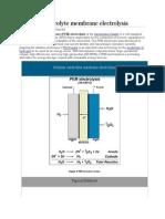 Polymer Electrolyte Membrane Electrolysis
