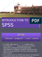 SPSS History