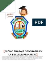 informe de la puesta en marcha de la enseñanza de la Geografía