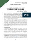 Model of Demand for International Tourism