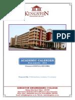 Academic Calender - Even Semester 2014