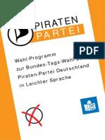 Wahlprogramm Der Piratenpartei in Leichter Sprache Barrierefrei