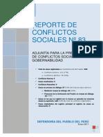 Reporte de Conflictos N83