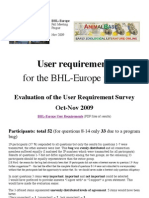 User requirements  for the BHL-Europe portal