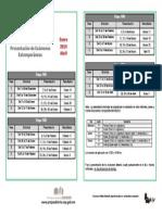 Calendario Examenes Extemporaneos Ene-Abr 2015