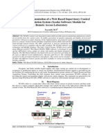 Design and Implementation of a Web Based Supervisory Control and Data Acquistion System (Scada) Software Module for Remote Access Laboratory