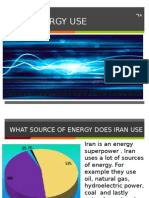 energy use in iran