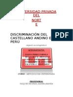 Discriminacion Del Castellano Andino