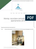 Montaj- Racordare Centrală Amenajari Apartamente 2015