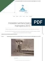 Instalatie Sanitara Baie Preturi Manopera 2015