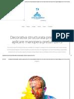 Decorativa Structurata Pregatire Si Aplicare Manopera Preturi 2015