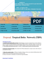 """Establishment of international collaborating research network for open innovation -Tropical Delta Network (TDN)"""