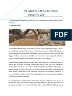 Food Security Act of India