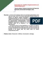Analisis Transaccional y Conflictos Organizacionales