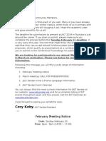2014 02 1 Meeting Notice