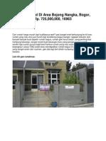Rumah Dijual Di Area Bojong Nangka, Bogor, Rp. 725,000,000, 16963 - www.rumahku.com