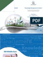 KM Middle East 2015 Brochure