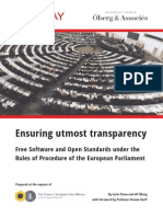 Ensuring Utmost Transparency - Piana Oberg Korff (2014)