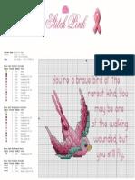 Stitch Pink Bird of Hope Project Sheet