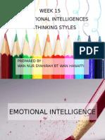 EMOTIONAL INTELLIGENCES AND THINKING STYLES
