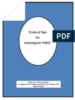 Tricks Listening Hesthi TOEFL 2014