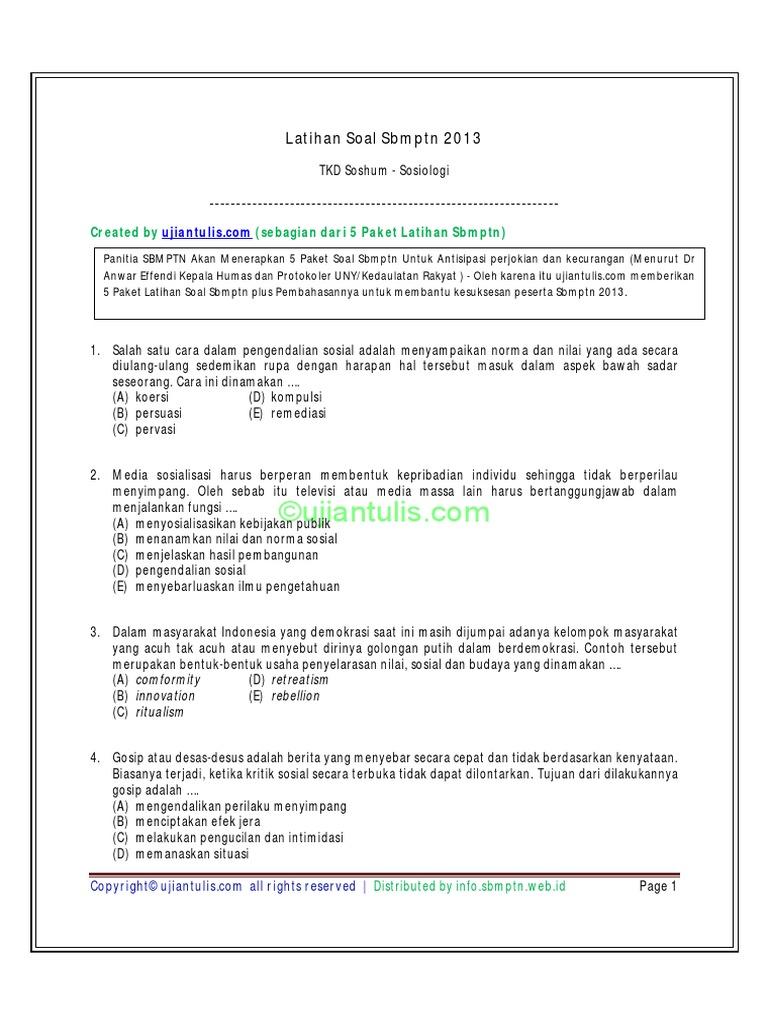 Soal Sbmptn Saintek 2013 Dan Pembahasannya Rabbitnewline