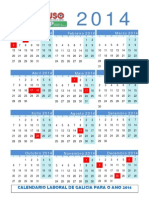 Calendario Laboral Galicia 2014