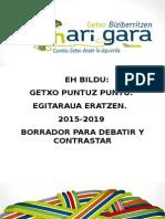 Borrador Programa Municipal de EH Bildu Getxo